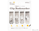 Midori Bookmarker Clip - Cat and Moon