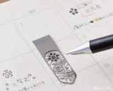 Midori Bookmarker Clip - Flower - Stencil