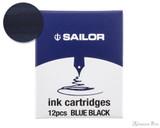 Sailor Jentle Blue-Black Ink Cartridges (12 Pack)