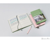 Leuchtturm1917 Some Lines A Day Memory Book - A5, Lined - Sage - Open
