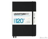 Leuchtturm1917 120g Notebook - A5, Blank - Black