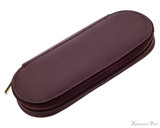 Girologio 2 Pen Zipper Case - Brown Leather
