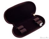 Girologio 2 Pen Zipper Case - Brown Leather - Open Empty