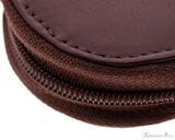 Girologio 2 Pen Zipper Case - Brown Leather - Zipper