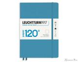 Leuchtturm1917 120g Notebook - A5, Blank - Nordic Blue