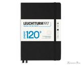 Leuchtturm1917 120g Notebook - A5, Lined - Black