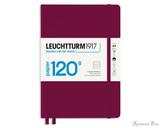 Leuchtturm1917 120g Notebook - A5, Lined - Port Red