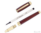 S.T. Dupont Line D Large Rollerball - Firehead Guilloche Amber - Parted Out