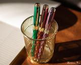 S.T. Dupont Line D Large Fountain Pen - Firehead Guilloche Amethyst - Beauty 4