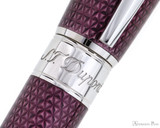 S.T. Dupont Line D Large Fountain Pen - Firehead Guilloche Amethyst - Trimband