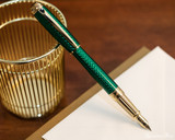S.T. Dupont Line D Large Fountain Pen - Firehead Guilloche Emerald - Beauty 2