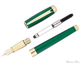 S.T. Dupont Line D Large Fountain Pen - Firehead Guilloche Emerald - Parted Out