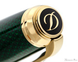 S.T. Dupont Line D Large Fountain Pen - Firehead Guilloche Emerald -