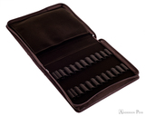 Girologio 24 Pen Case - Brown Leather - Open