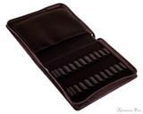 Girologio 24 Pen Case - Brown Leather - Open