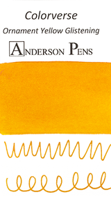 Colorverse Ornament Yellow Glistening Ink (65ml Bottle) - Swab Card