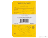 Field Notes Notebooks - County Fair, Rhode Island (3 Pack) - Back