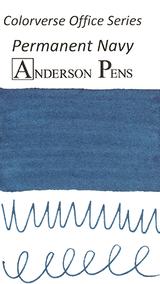 Colorverse Office Series Permanent Navy Ink (30ml Bottle) - Swab Cards