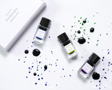 Pilot Iroshizuku Mini Boxed Set - Asa-gao, Chiku-rin, and Murasaki-shikibu (15ml Bottle 3-Pack) - Splatters