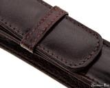Girologio 1 Pen Case - Oxblood - Stitching