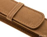 Girologio 1 Pen Case - Saddle Brown - Stitching