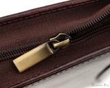 Girologio 12 Pen Case - Oxblood - Zipper