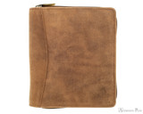Girologio 12 Pen Case - Saddle Brown