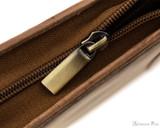 Girologio 12 Pen Case - Saddle Brown - Zipper