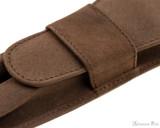 Girologio 2 Pen Case - Bomber Brown - Stitching