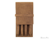 Girologio 4 Pen Case - Saddle Brown
