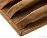 Girologio 4 Pen Case - Saddle Brown - Stitching 2