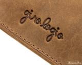 Girologio 4 Pen Case - Saddle Brown - Imprint