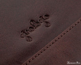 Girologio 12 Pen Case Portfolio - Oxblood - Imprint