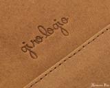 Girologio 12 Pen Case Portfolio - Saddle Brown - Imprint