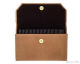 Girologio 12 Pen Case Portfolio - Saddle Brown - Open