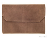 Girologio 12 Pen Case Portfolio - Bomber Brown