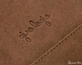 Girologio 12 Pen Case Portfolio - Bomber Brown - Imprint