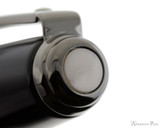 Sheaffer Prelude Fountain Pen - Gloss Black Lacquer with Gunmetal Trim - Cap Jewel