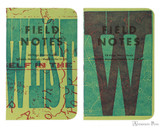 Field Notes Notebooks - LE United States of Letterpress Set A (3 Pack) - Kern Pair