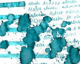Sailor US 50 State Ink Series - Alaska Ink Sample (3ml Vial) - Writing