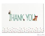 Peter Pauper Press Thank You Notecards - 5 x 3.5, Woodland Friends