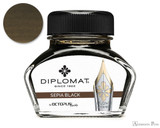 Diplomat Sepia Black Ink (30ml Bottle)