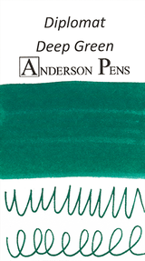 Diplomat Deep Green Ink (30ml Bottle) - Ink Swab