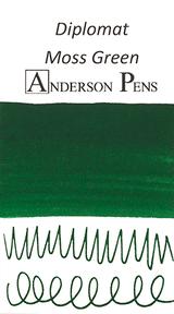 Diplomat Moss Green Ink (30ml Bottle) - Swab