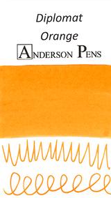 Diplomat Orange Ink Sample (3ml Vial)