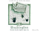 Sailor US 50 State Ink Series - Washington (20ml Bottle) - Swab