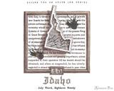 Sailor US 50 State Ink Series - Idaho - Swab