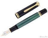 Pelikan Souveran M1000 Fountain Pen - Black-Green with Gold Trim - Filling System