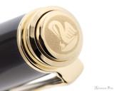 Pelikan Souveran M400 Fountain Pen - Black-Green with Gold Trim - Jewel