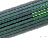 Pelikan Souveran M400 Fountain Pen - Black-Green with Gold Trim - Pattern